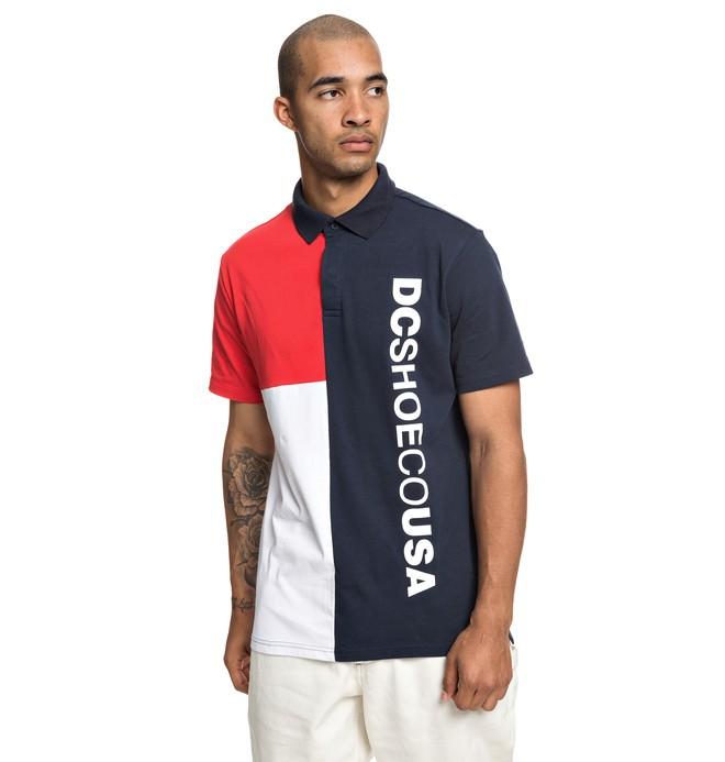0 Mawson Short Sleeve Polo Shirt Blue EDYKT03447 DC Shoes
