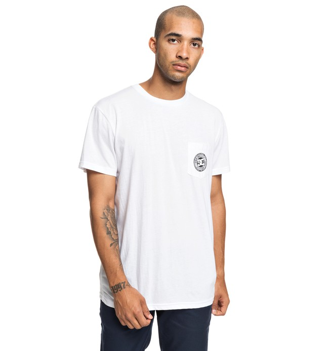 0 Basic - T-shirt pour Homme Blanc EDYKT03458 DC Shoes