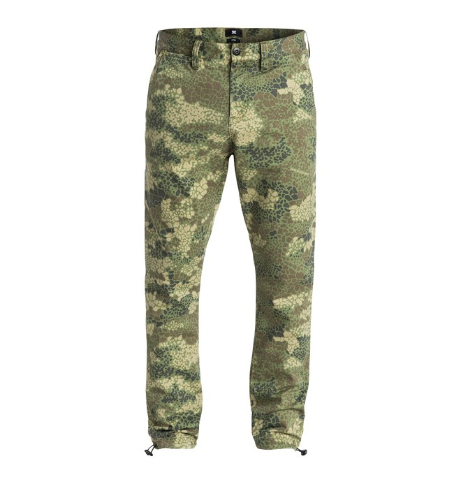 "0 Men's DPM Camo Tapered Fit 32"" Pants  EDYNP03061 DC Shoes"
