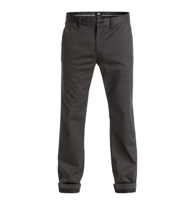 "0 Pantalones Worker Straight Fit Heather Chino 32"" - hombre  EDYNP03072 DC Shoes"