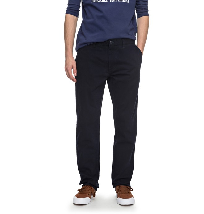 """0 Men's Worker Slim 32"""" Chinos Blue EDYNP03105 DC Shoes"""