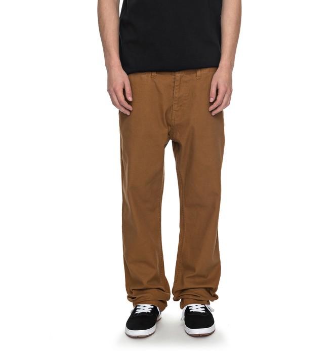 0 Men's Uncompromised Canvas Pants Orange EDYNP03120 DC Shoes