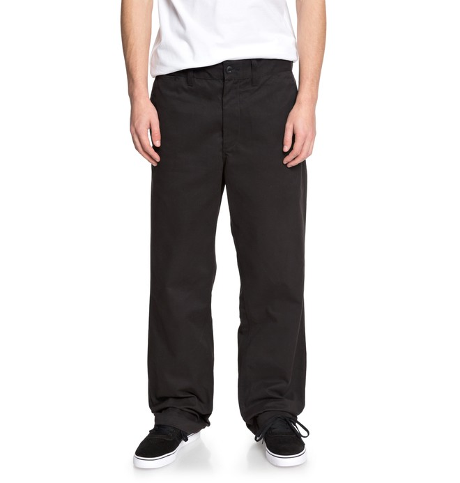 0 Men's Alive Set Baggy Chinos Black EDYNP03126 DC Shoes