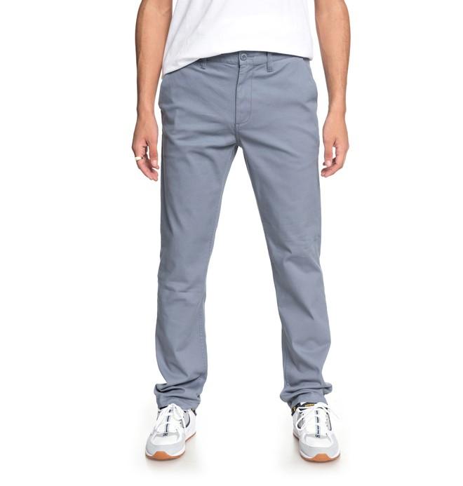 0 Worker - Pantalón Chino para Hombre Azul EDYNP03132 DC Shoes
