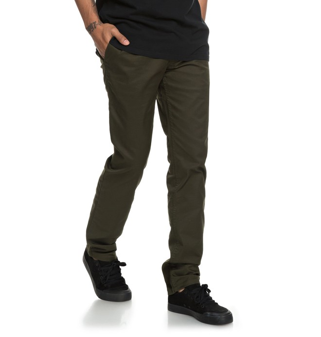 0 Men's Worker Slim Fit Chinos Black EDYNP03135 DC Shoes