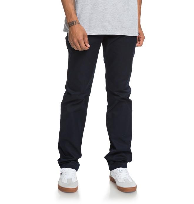 0 Pantalones de Mezclilla Rectos Worker Azul EDYNP03136 DC Shoes