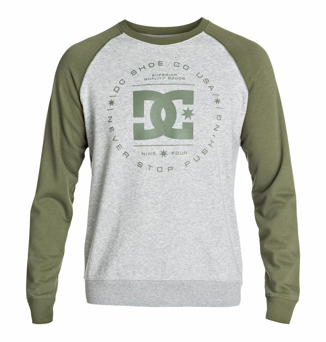 0 Men's Rebuilt Crew Raglan Sweatshirt  EDYSF03046 DC Shoes