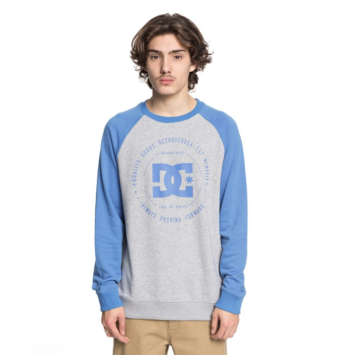 0 Men's Rebuilt Sweatshirt Blue EDYSF03106 DC Shoes