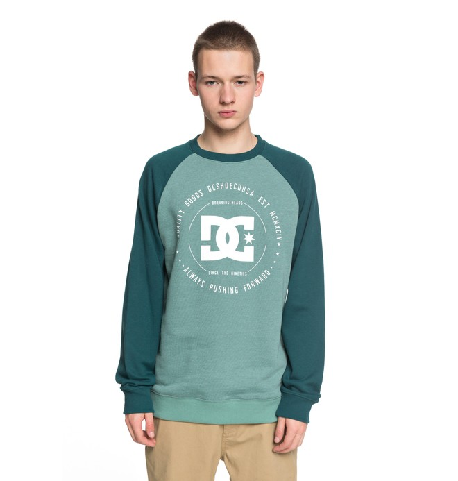 0 Rebuilt - Felpa Green EDYSF03106 DC Shoes