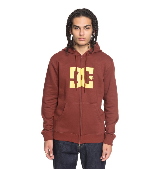 0 Star - Felpa con cappuccio e zip Red EDYSF03108 DC Shoes