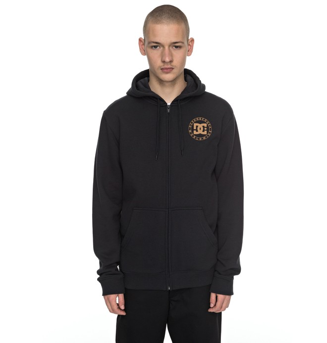 0 Wheel Of Steelo Zipper Up Hoodie  EDYSF03135 DC Shoes