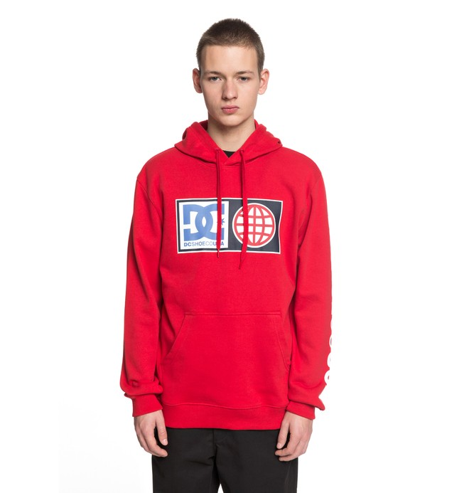 0 Men's Global Salute Hoodie Red EDYSF03152 DC Shoes