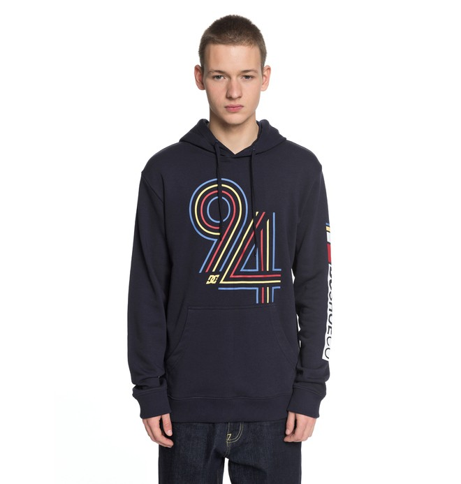 0 Men's Cycles Lines Hoodie Blue EDYSF03153 DC Shoes