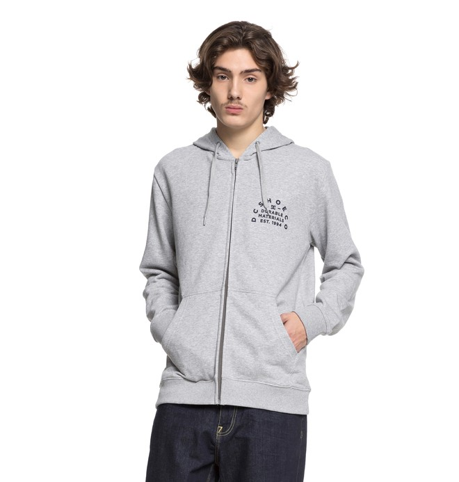 0 Durable Timer Zip Up Hoodie Black EDYSF03155 DC Shoes