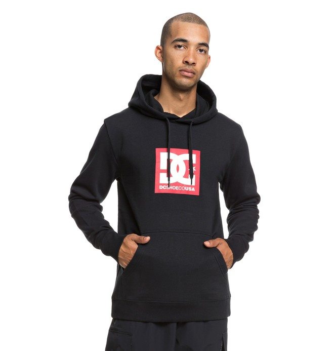 0 Square Star Hoodie Black EDYSF03167 DC Shoes