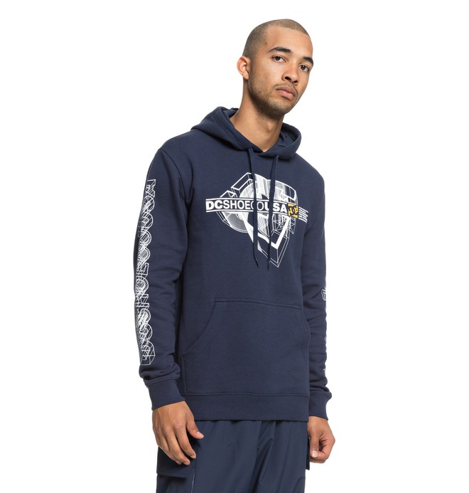 0 Men's Phaser Hoodie Blue EDYSF03172 DC Shoes