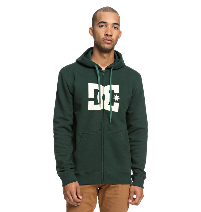 0 Star - Zip-Up Hoodie for Men Green EDYSF03173 DC Shoes