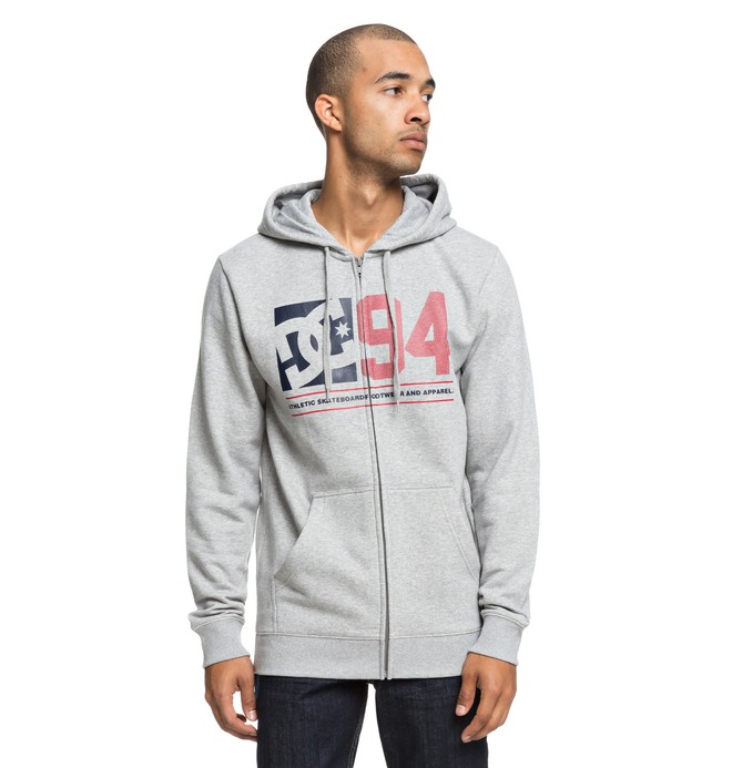 0 Player Seven Zip-Up Hoodie Black EDYSF03176 DC Shoes