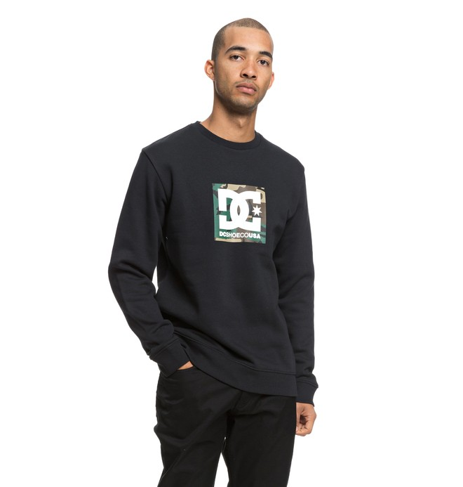 0 Camo Boxing Sweatshirt Black EDYSF03181 DC Shoes