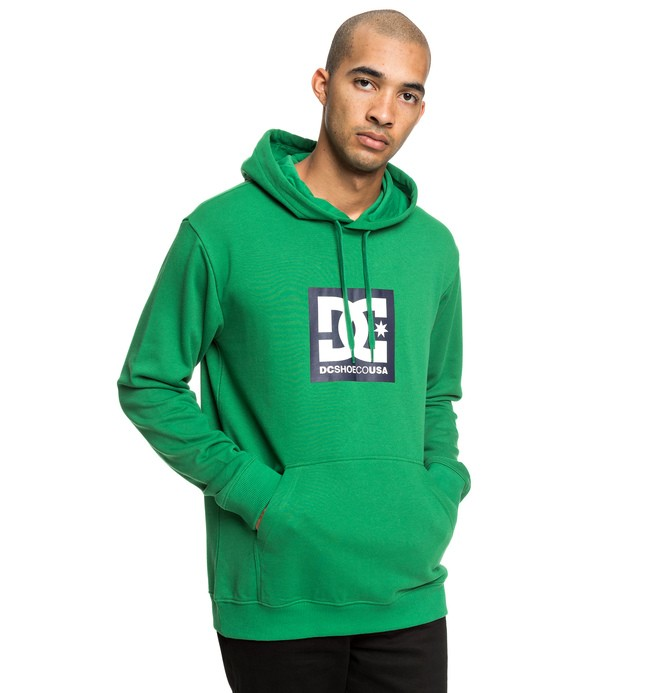 0 Square Star - Sweat à capuche pour Homme Vert EDYSF03184 DC Shoes
