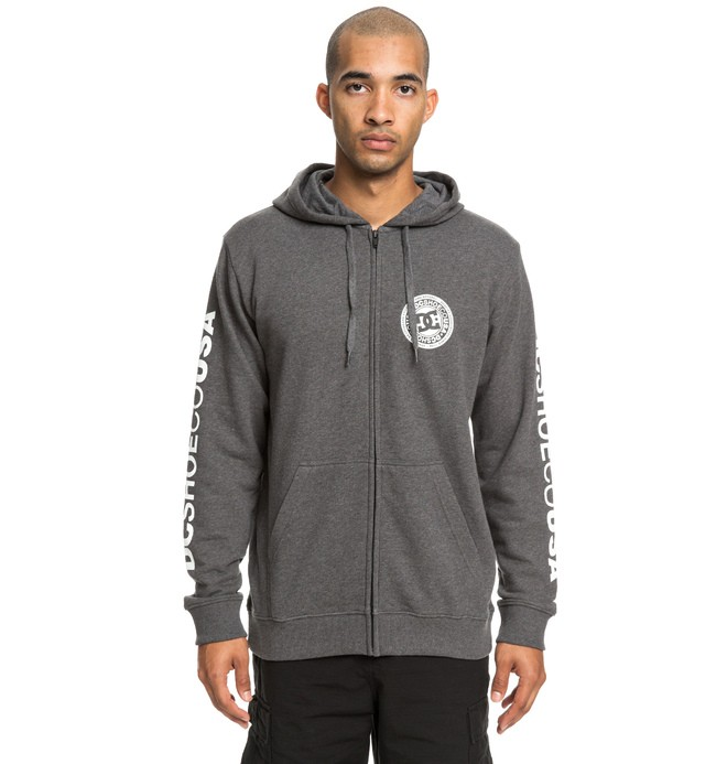 0 Circle Star - Zip-Up Hoodie for Men Black EDYSF03194 DC Shoes