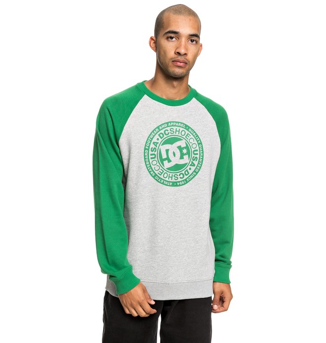 0 Circle Star - Sweatshirt for Men Green EDYSF03198 DC Shoes
