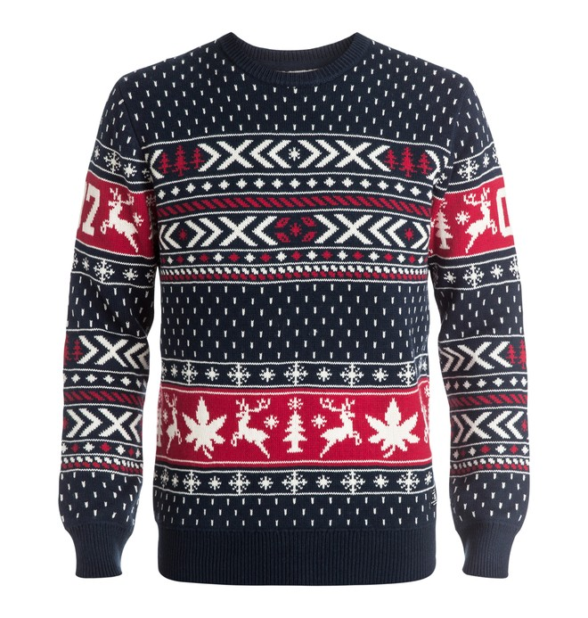 0 Men's Ugly Xmas Crew Sweater  EDYSW03012 DC Shoes