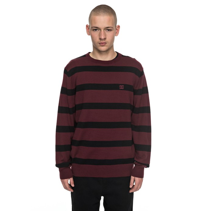 0 Sabotage Stripe - Pullover Rot EDYSW03024 DC Shoes
