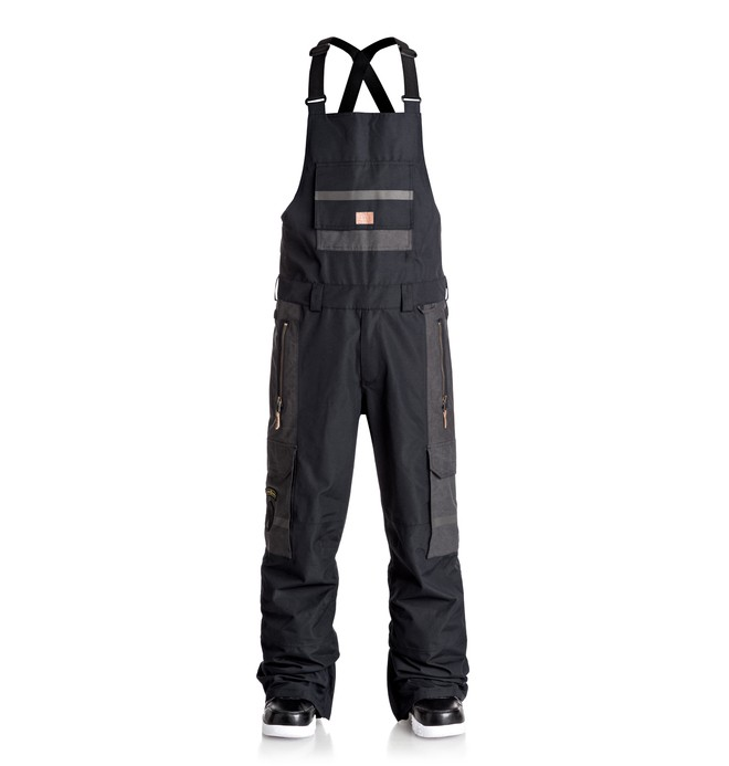 0 Men's Platoon Bib Snow Pants Black EDYTP03021 DC Shoes
