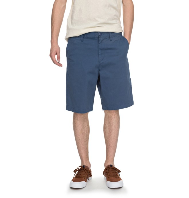 "0 Men's Worker Straight 20.5"" Shorts Blue EDYWS03064 DC Shoes"