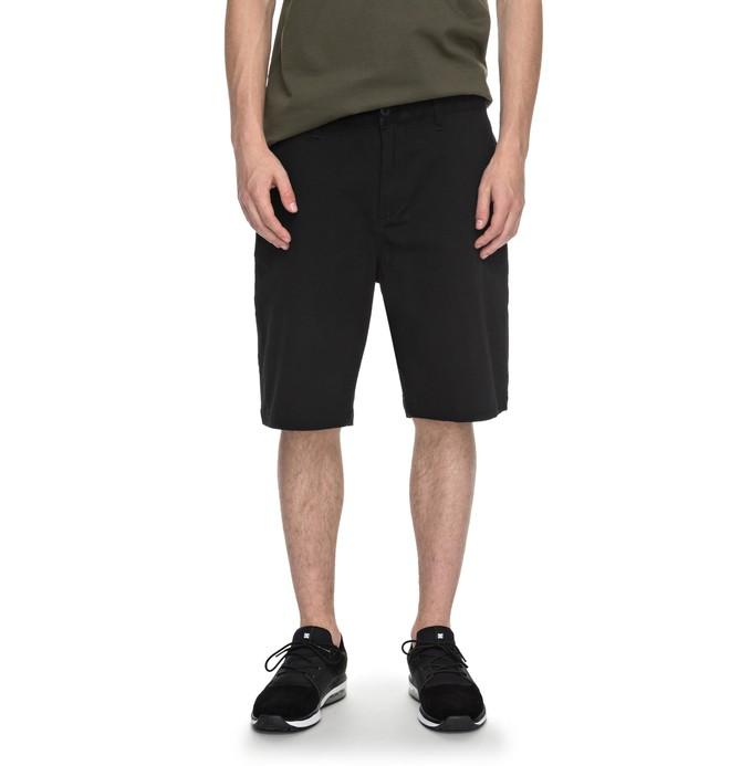 "0 Men's Worker Straight 20.5"" Shorts Black EDYWS03064 DC Shoes"