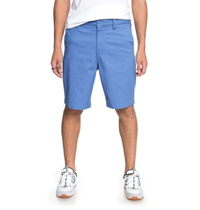 "0 Men's Worker 20.5"" Chino Shorts Blue EDYWS03101 DC Shoes"