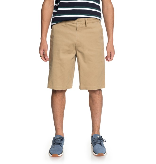 "0 Men's Worker 22"" Chino Shorts Brown EDYWS03103 DC Shoes"