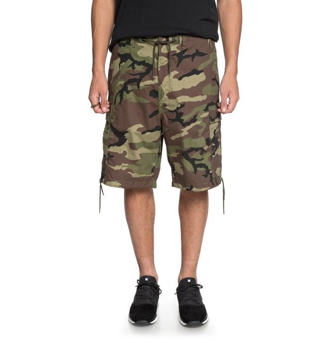 "0 Shorts Cargo Baggy Trueper de 22"" Verde EDYWS03105 DC Shoes"