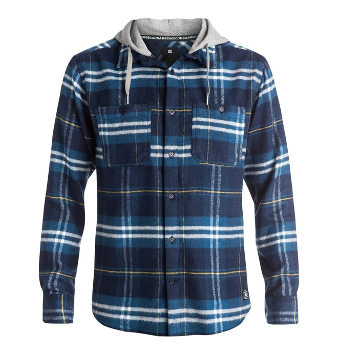 0 Men's Hood Up Flannel Shirt  EDYWT03042 DC Shoes