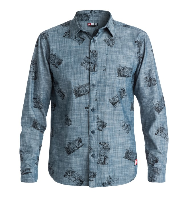 0 Men's Cliver Woven Chambray Shirt  EDYWT03055 DC Shoes