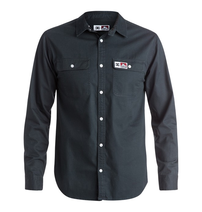 0 Men's DCBD Twill Long Sleeve Shirt  EDYWT03066 DC Shoes
