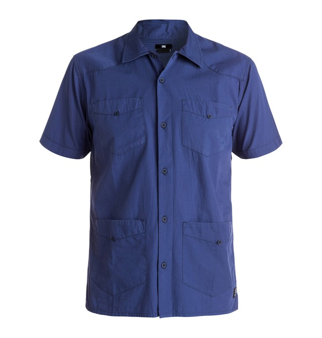 0 Men's Guayabera Short Sleeve Shirt  EDYWT03075 DC Shoes