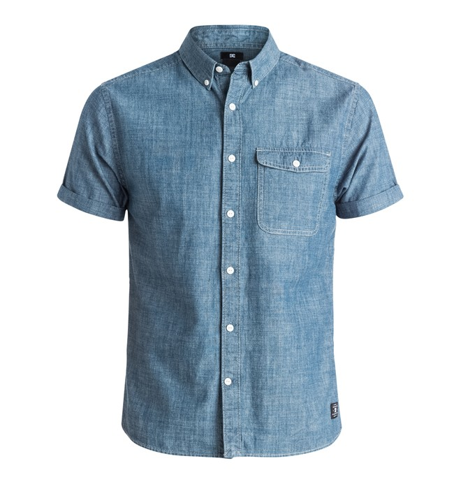 0 Men's Riot Van Short Sleeve Shirt  EDYWT03080 DC Shoes