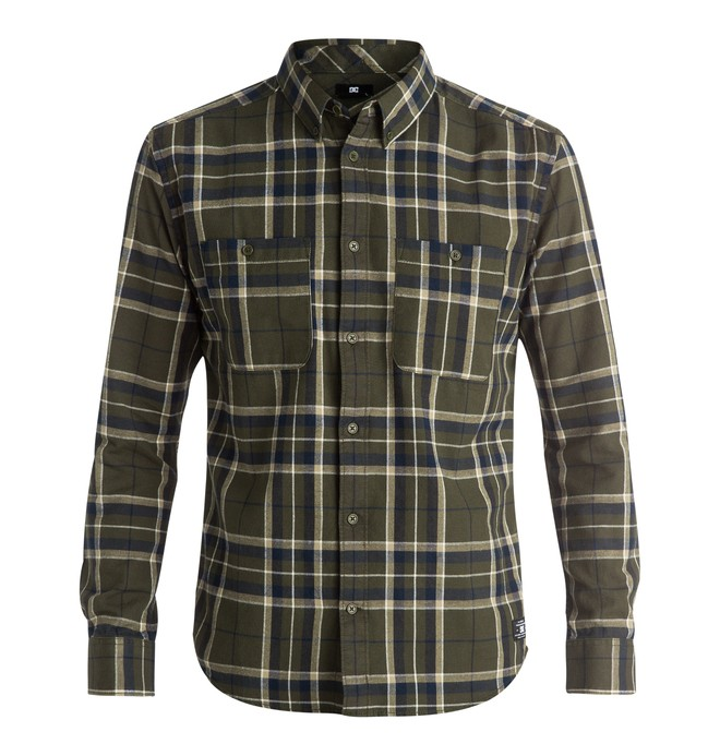 0 Men's South Ferry Flannel Long Sleeve Shirt  EDYWT03100 DC Shoes