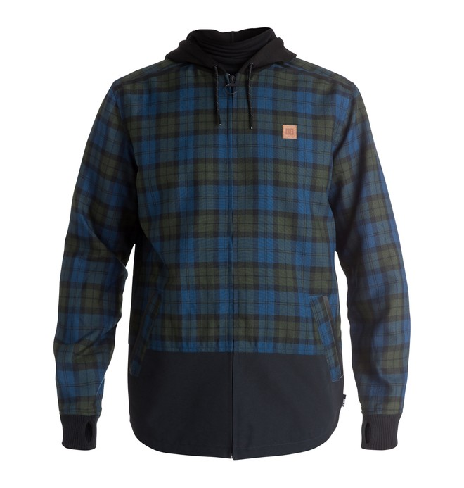 0 Men's Backwoods Flannel Riding Shacket  EDYWT03115 DC Shoes