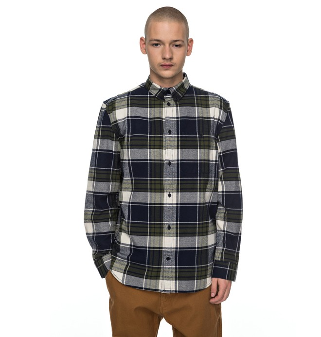 0 South Ferry - Long Sleeve Shirt for Men Blue EDYWT03160 DC Shoes