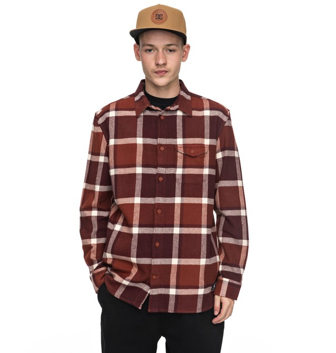 0 Marsha Flannel - Long Sleeve Shirt for Men Red EDYWT03161 DC Shoes
