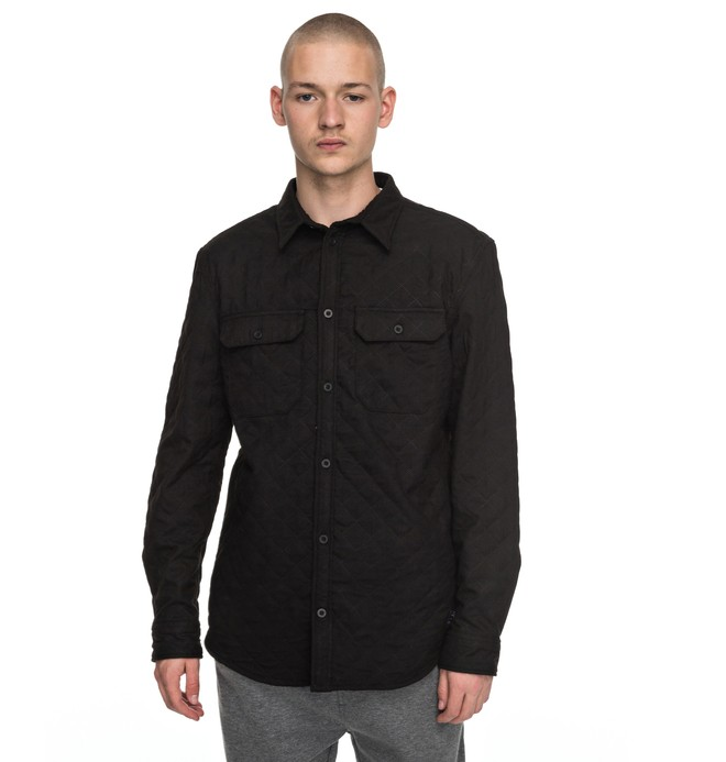 0 Men's Saltwick Long Sleeve Shirt Black EDYWT03169 DC Shoes