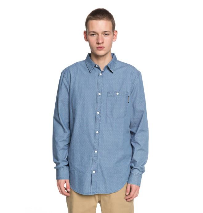 0 Swalendalen 2 - Overhemd met Lange Mouwen Blue EDYWT03190 DC Shoes
