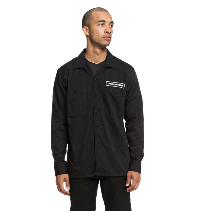 0 Wasdale - Long Sleeve Workwear Shirt  EDYWT03203 DC Shoes