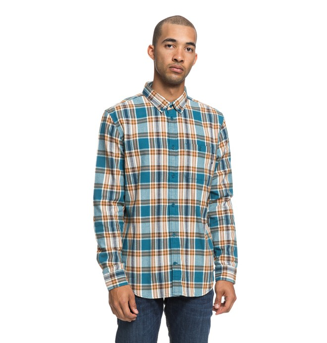 0 Northboat Long Sleeve Shirt Blue EDYWT03208 DC Shoes