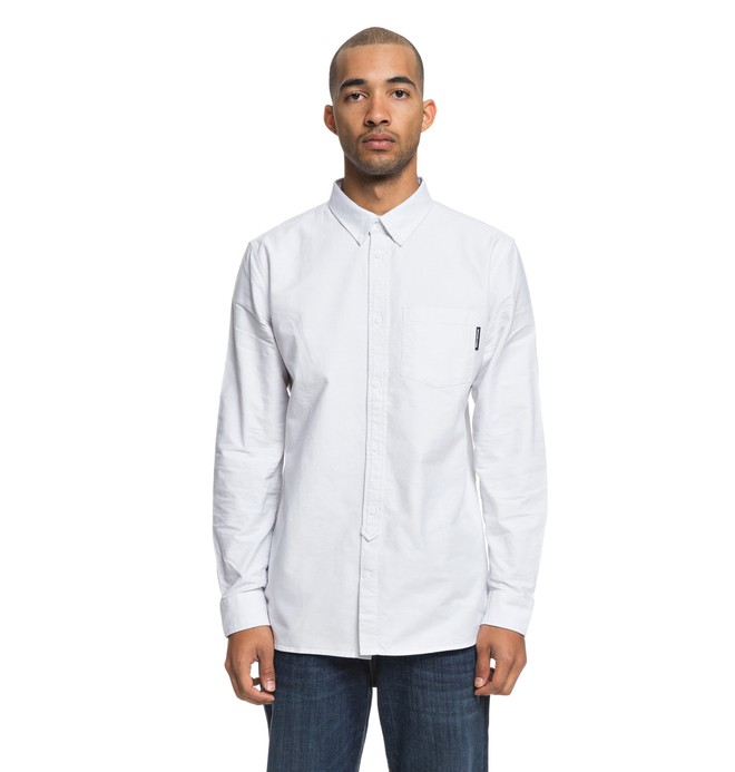 0 The Oxford - Camisa de manga larga para Hombre Gris EDYWT03209 DC Shoes