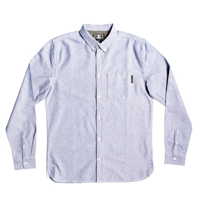 0 The Oxford Long Sleeve Shirt Blue EDYWT03225 DC Shoes
