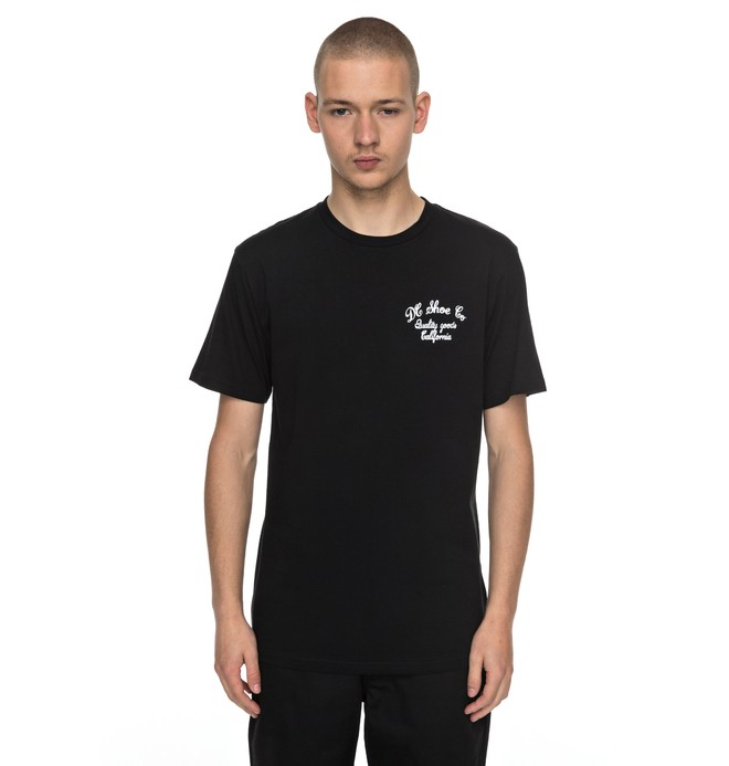 0 Men's Squander Tee Black EDYZT03686 DC Shoes